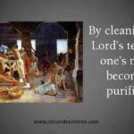 With a broom in his hand Radhanath Maharaj teaches an important lesson